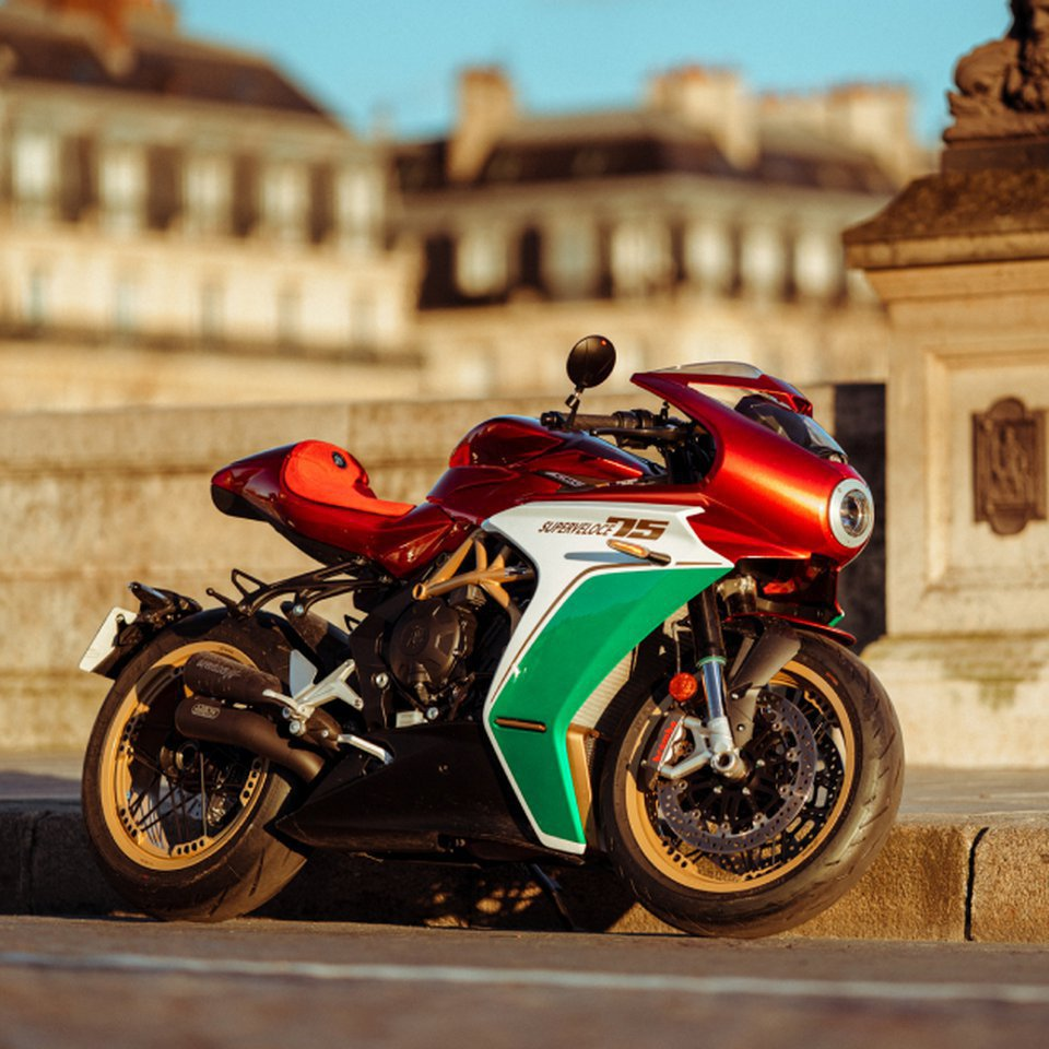 MV AGUSTA'S CELEBRATION SUPERVELOCE 75 ANNIVERSARIO SOLD-OUT